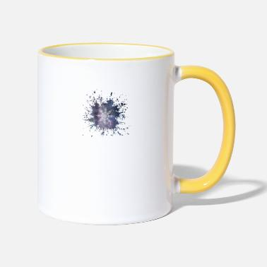 Flocon De Neige Flocon de neige flocon de neige Splash - Mug bicolore