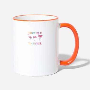 We Re The Apparently We re Trouble When We Are Together - Two-Tone Mug