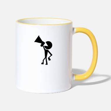 Protest protester - Two-Tone Mug