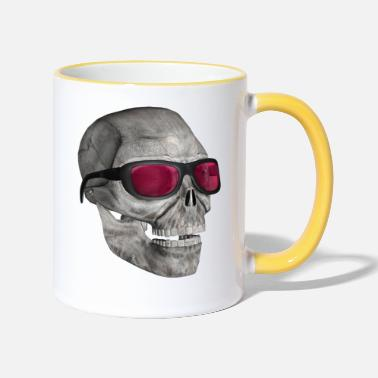 Muoto skull with sunglasses 3000 - Kontrasti-muki