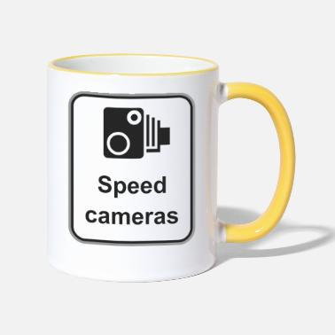 Speed Road sign Speed cameras - Two-Tone Mug