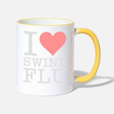 Swine Flu I Love Swine Flu! - Two-Tone Mug