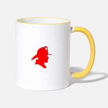 Firebrigade Firefighters firebrigade fire defense defender new ho - Two-Tone Mug
