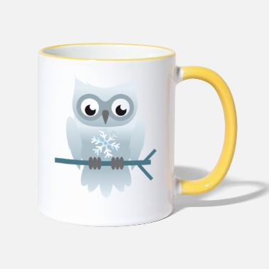 Snow Snow owl - Two-Tone Mug