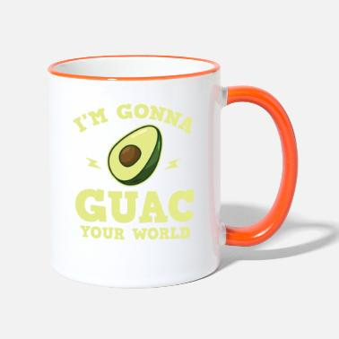 Common Tropical Fruits Cool I'm gonna GUAC your world T-Shirt - Two-Tone Mug