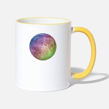 Colour full moon - Two-Tone Mug