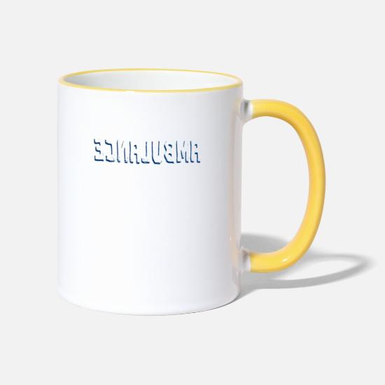 Birthday Mugs & Drinkware - ambulance - Two-Tone Mug white/yellow