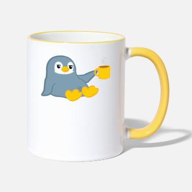 Penguin Penguin - penguins - penguin motif - coffee - Two-Tone Mug