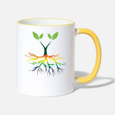 Nature Conservation Nature - Rainbow - Conservation - Roots - Two-Tone Mug