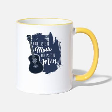 Bad Taste Good Taste in Music Bad Taste in Men - Contrasting Mug