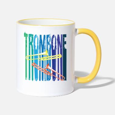 Trombone Colorful trombone - Two-Tone Mug