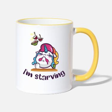 Unicorn is hungry - Two-Tone Mug