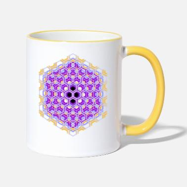 Honeycomb honeycomb - Two-Tone Mug