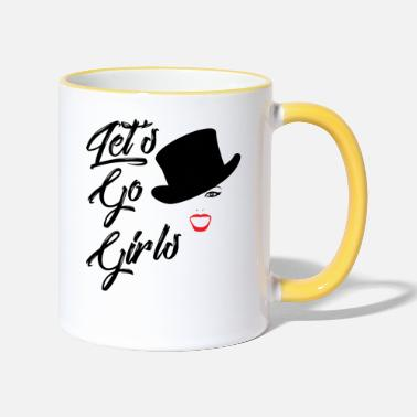 Go Shania Fan Art Lets Go Girls - Two-Tone Mug