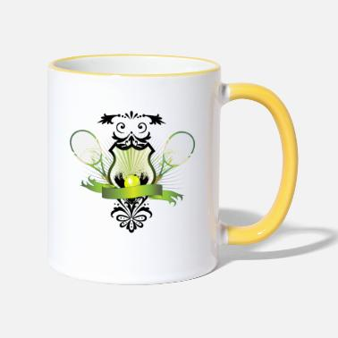 Tennis Ball Tennis racket with tennis ball - Two-Tone Mug