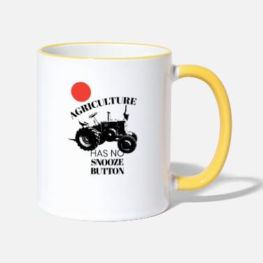 Snooze Farm Tractor Agriculture Has No Snooze Button - Two-Tone Mug