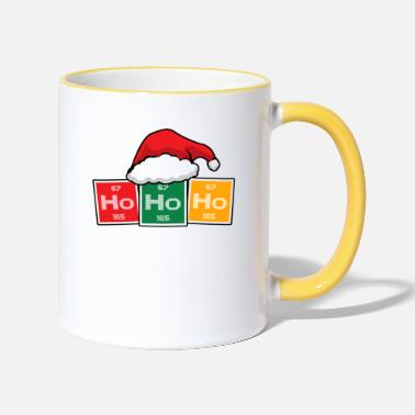 Ho Ho Ho Periodic Table Christmas Chemistry - Contrasting Mug