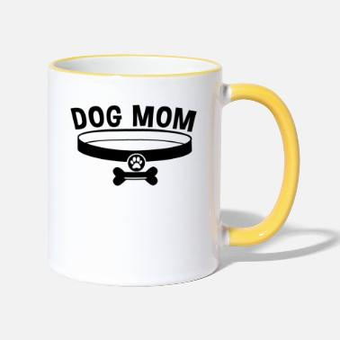 Dog Mom / Dog Mom - Two-Tone Mug