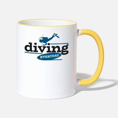 Scuba Diving Diver Diving Instructor Diving Gift - Kubek dwukolorowy