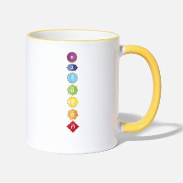 Spiritual Chakras spiritual colors and signs t-shirt - Two-Tone Mug