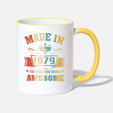Awesome 40th birthday Made In 1979 40 Years Awesome - Two-Tone Mug