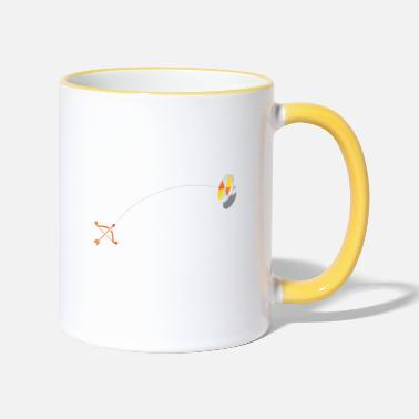 Arrow bow and arrow - Two-Tone Mug