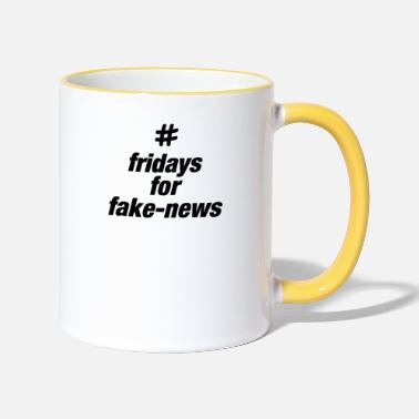 #fridays for fake news - Two-Tone Mug