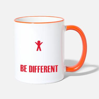 Be Different Be Different - Be Different - Shirt - Mok tweekleurig