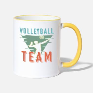 Volleyball-team Volleyball Team - Tasse zweifarbig