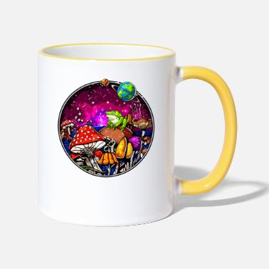Hallucinogen Psychedelic Magic Mushrooms Hallucinogenic Frog - Two-Tone Mug