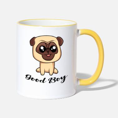 Good Boy - Pug - Design - Two-Tone Mug