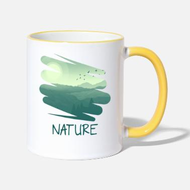 The Nature Retro Style gr - Taza de dos colores