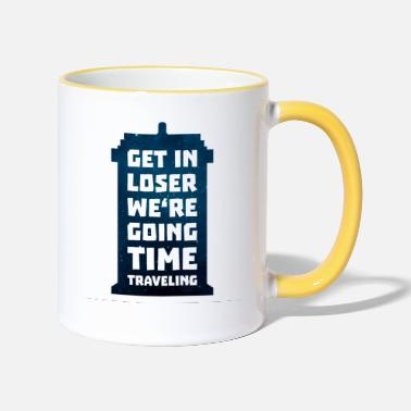 Time travel telephone booth - Two-Tone Mug