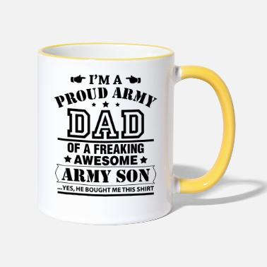 Dads Army Proud Army Dad Of a Army Son... - Two-Tone Mug