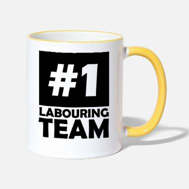 Labour number one labouring team - Two-Tone Mug