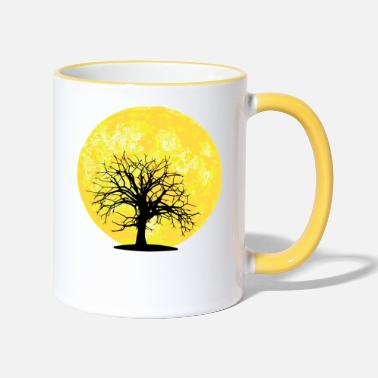 Tree Moon - tree - Two-Tone Mug