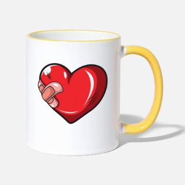 Injured Injured heart - Two-Tone Mug