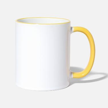 Introverted - but will fight racists - Two-Tone Mug