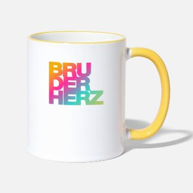 Brother heart Best brother in the world gift idea - Two-Tone Mug