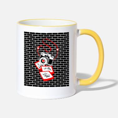 Slr Fashion Photographer Pop Art7 - Two-Tone Mug