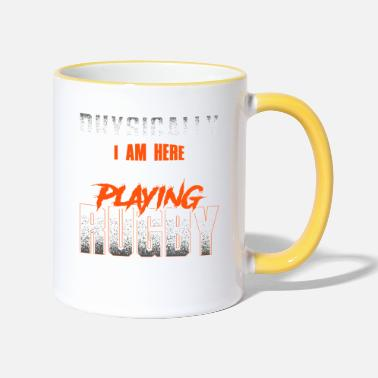 Crazy rugby saying - rugby - Two-Tone Mug
