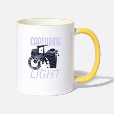 Photographer Capturing light - Two-Tone Mug