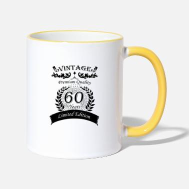 60th 60th birthday vintage - Two-Tone Mug