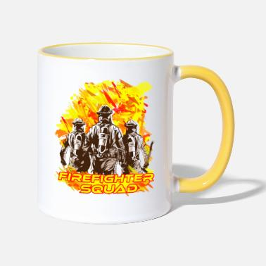 Everyday Heroes firefigher squad - Two-Tone Mug