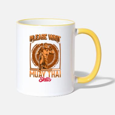 Please Please Wait Installing Muay Thai Skills MMA - Two-Tone Mug