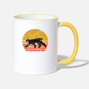 Animals Nature Retro Sun Lynx Animal Gift - Two-Tone Mug