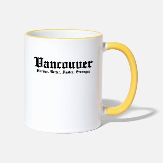 Vancouver Tazze & Accessori - Vancouver Harder, Better, Faster, Stronger - Tazza bicolor bianco/giallo