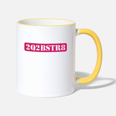 Citazione too cute to be straight (1c) - Tazza bicolor