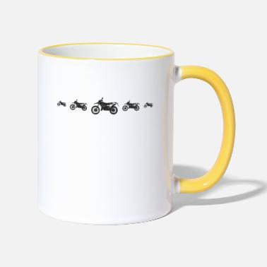 Racy KING MASTER COOL PROFESSIONAL MOTORCross raci - Two-Tone Mug