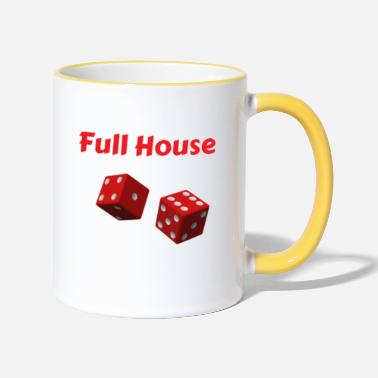 Full House Kniffel Full House Dice - Mug bicolore